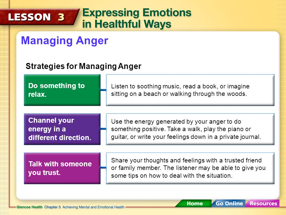 Managing Anger Strategies for Managing Anger Do something to relax.