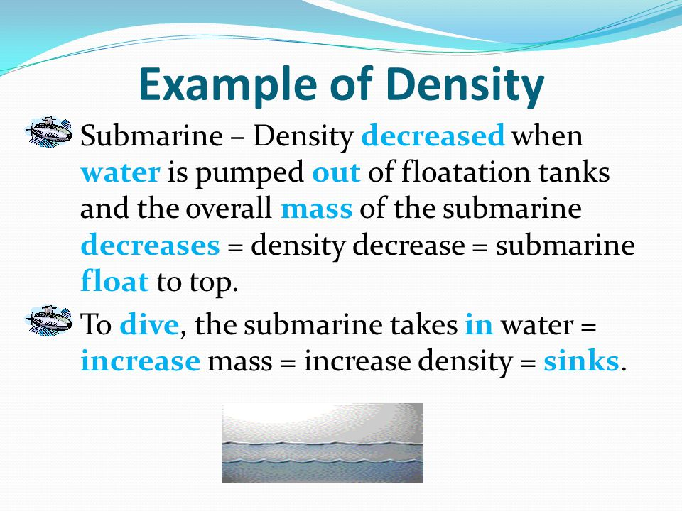 Example of Density