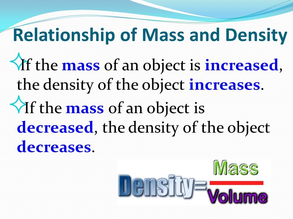 Relationship of Mass and Density