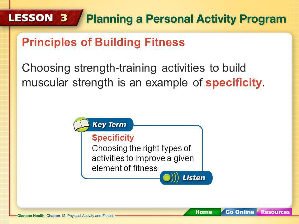 Principles of Building Fitness