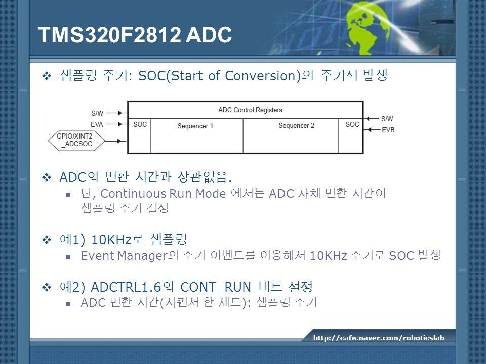 TMS320F2812 ADC 샘플링 주기: SOC(Start of Conversion)의 주기적 발생