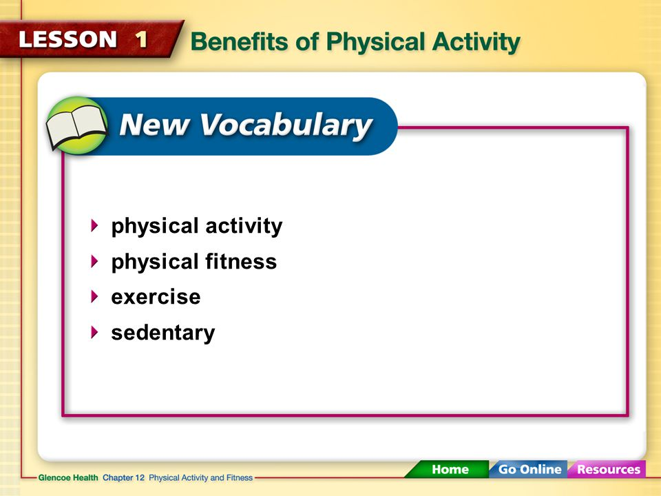 physical activity physical fitness exercise sedentary