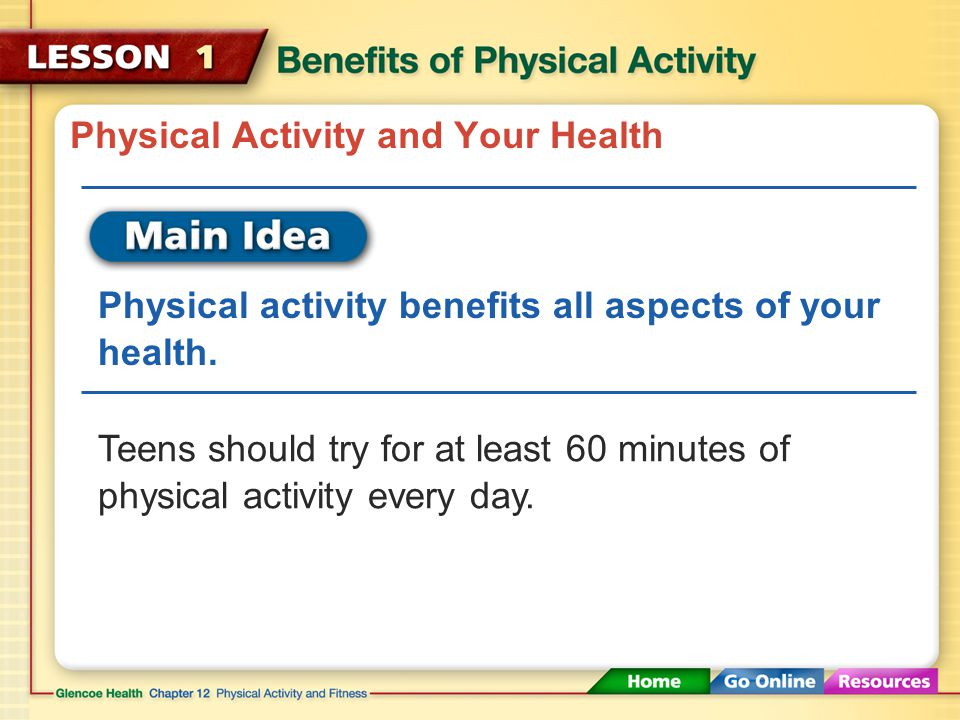 Physical Activity and Your Health