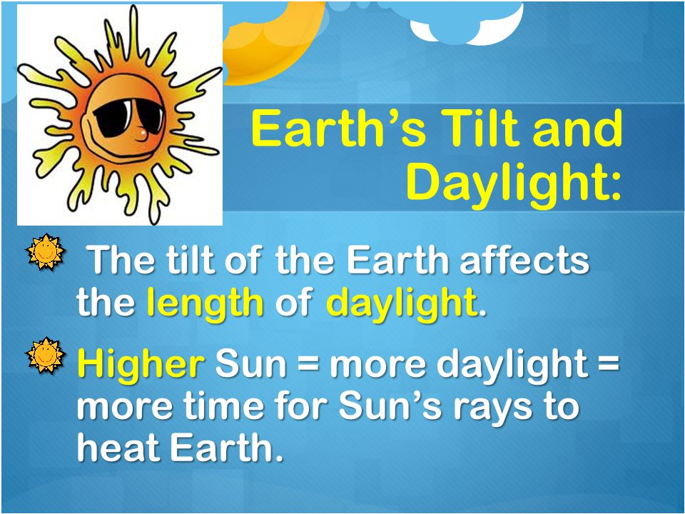 Earth's Tilt and Daylight: