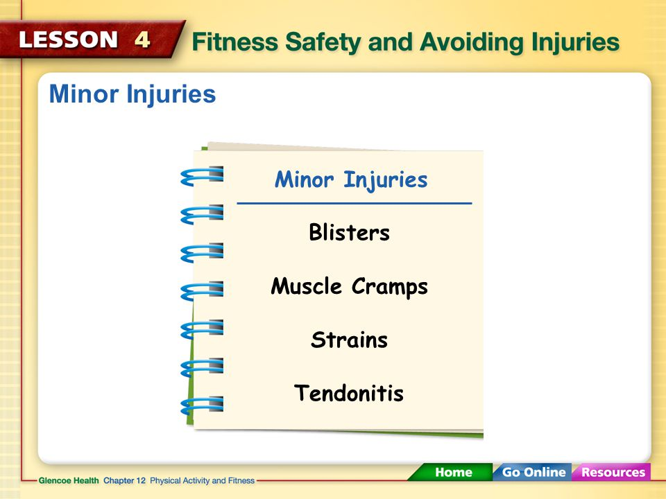 Minor Injuries Minor Injuries Blisters Muscle Cramps Strains