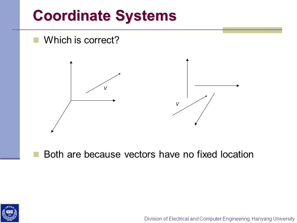 Coordinate Systems Which is correct