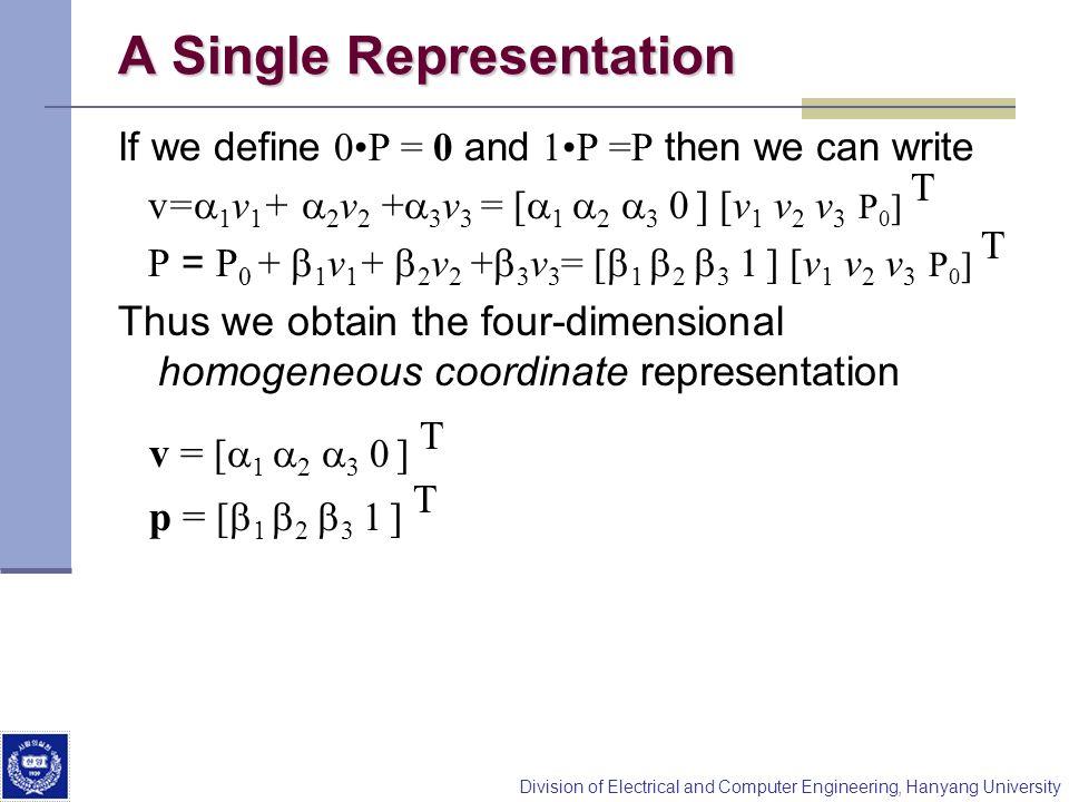 A Single Representation
