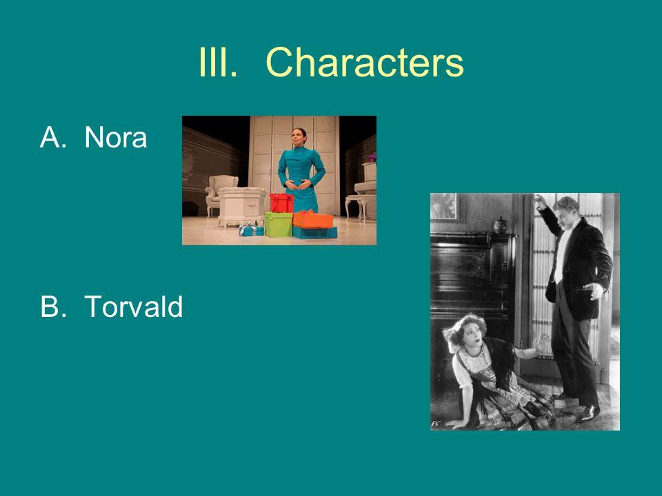 III. Characters Nora B. Torvald