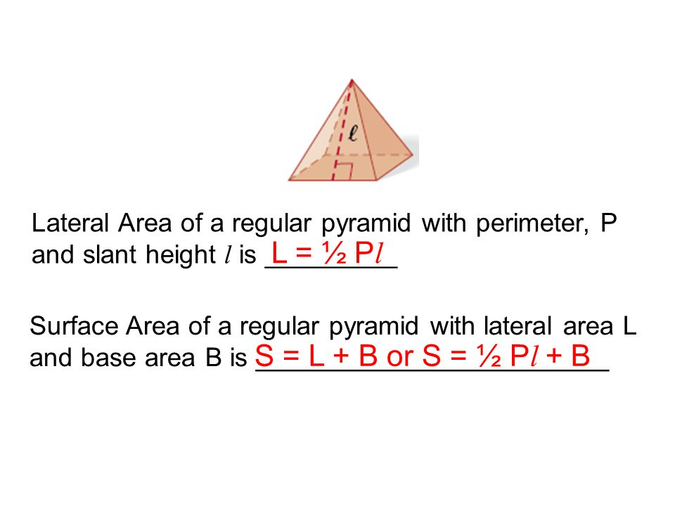 Lateral Area of a regular pyramid with perimeter, P