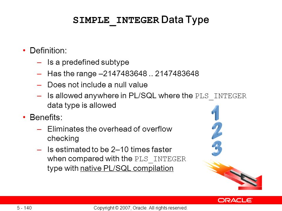 SIMPLE_INTEGER Data Type