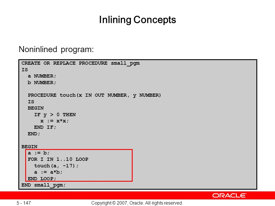 Oracle Database 11g: SQL and PL/SQL New Features 1 - 147