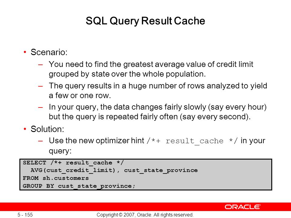 Oracle Database 11g: SQL and PL/SQL New Features 1 - 155