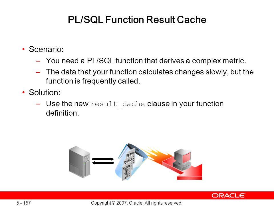 PL/SQL Function Result Cache
