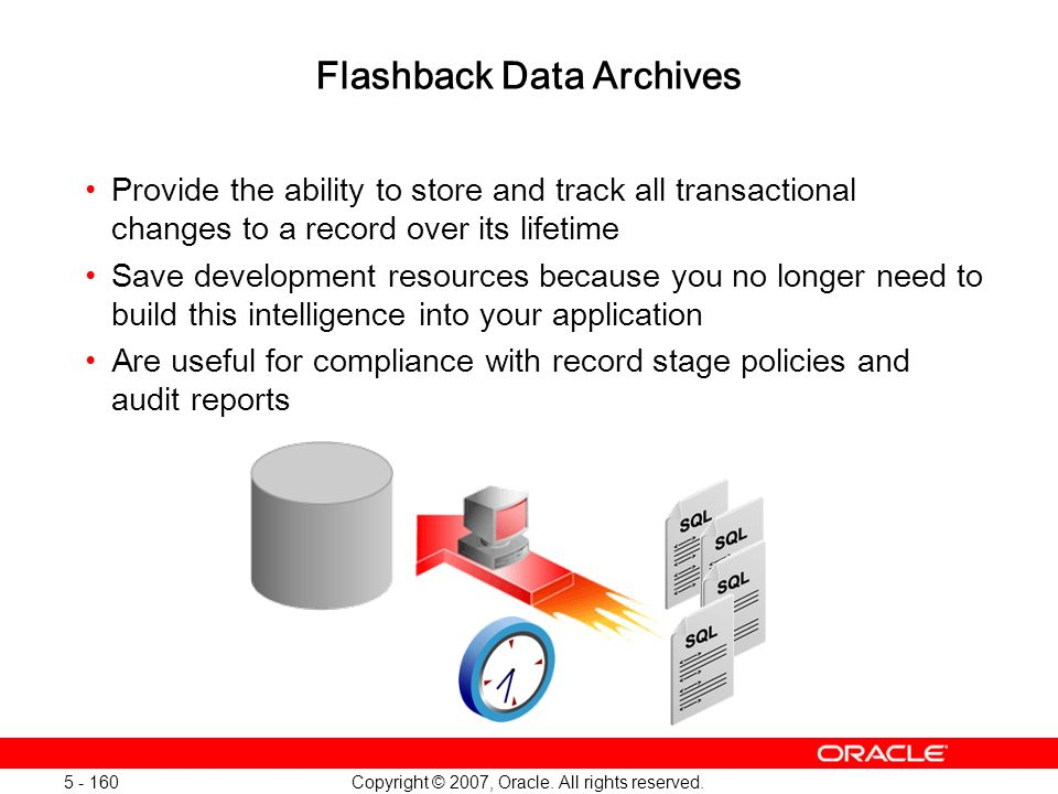 Flashback Data Archives