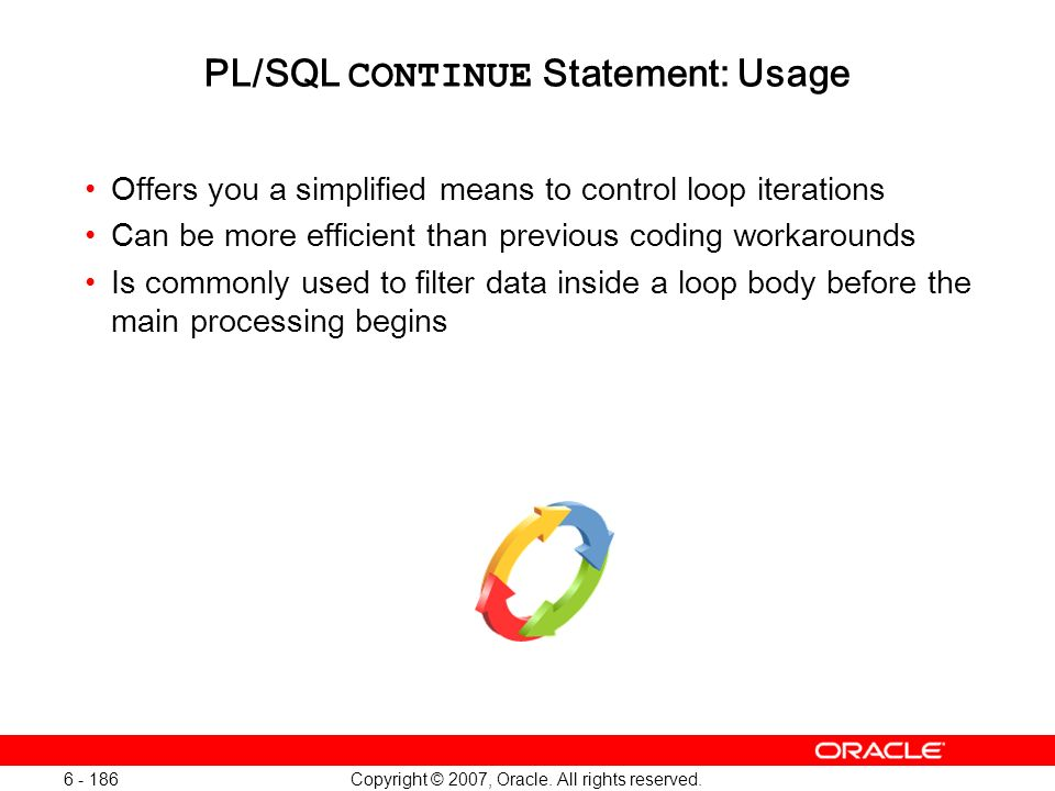 PL/SQL CONTINUE Statement: Usage