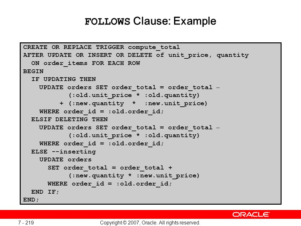 FOLLOWS Clause: Example