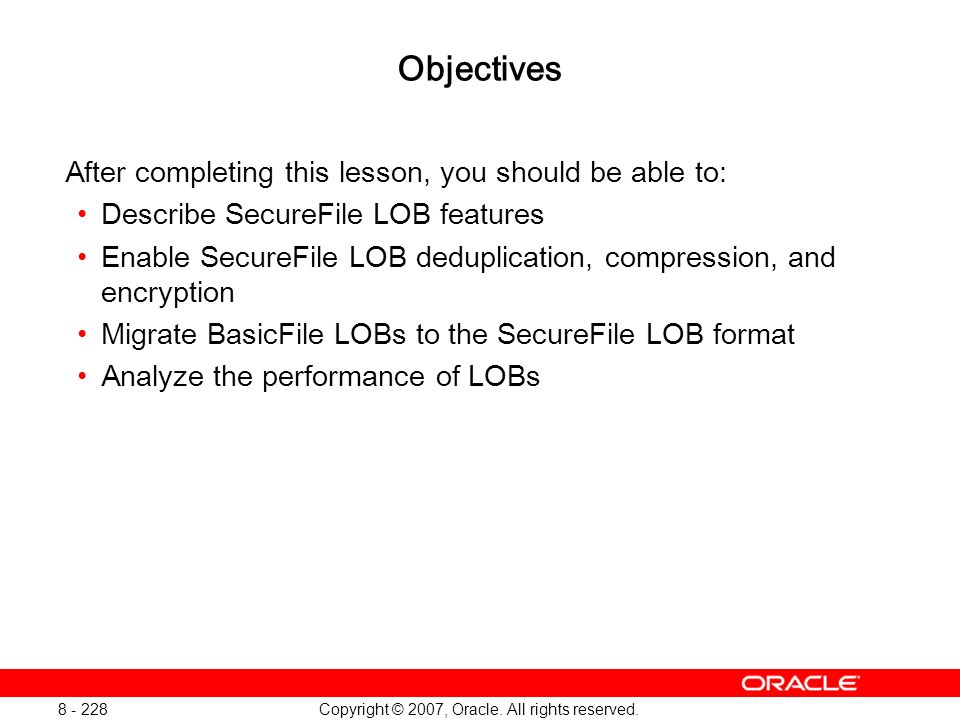 Oracle Database 11g: SQL and PL/SQL New Features 1 - 228