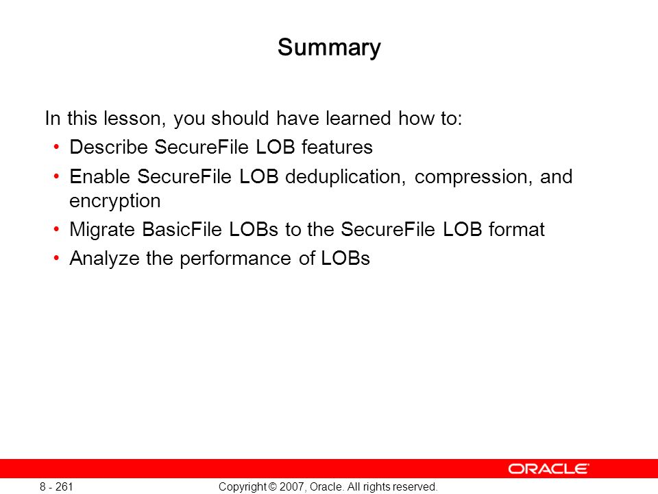 Oracle Database 11g: SQL and PL/SQL New Features 1 - 261