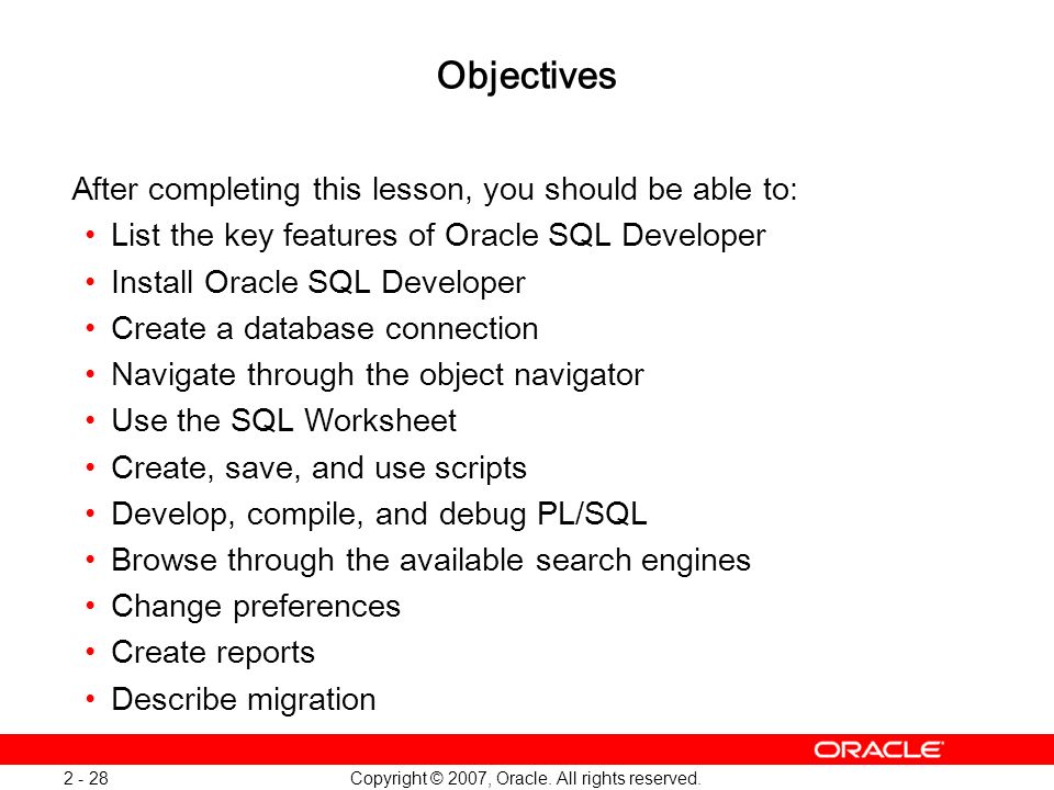 Oracle Database 11g: SQL and PL/SQL New Features 1 - 28