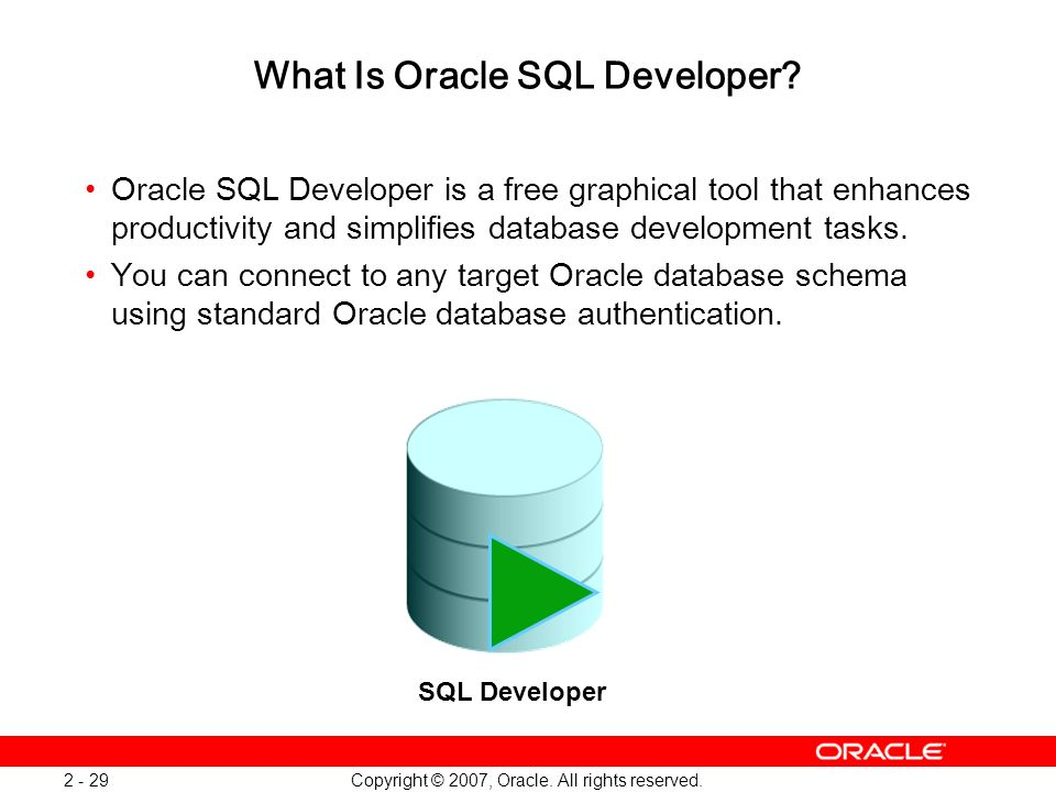 What Is Oracle SQL Developer