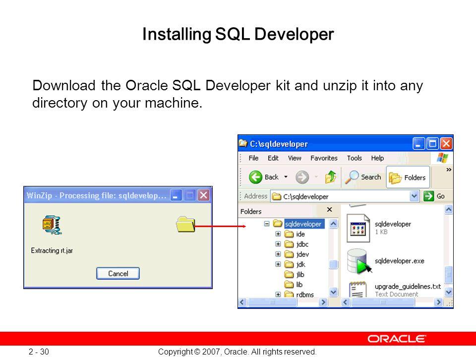 Installing SQL Developer