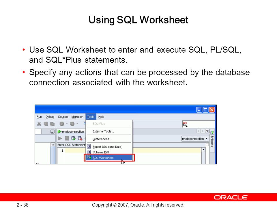 Oracle Database 11g: SQL and PL/SQL New Features 1 - 38