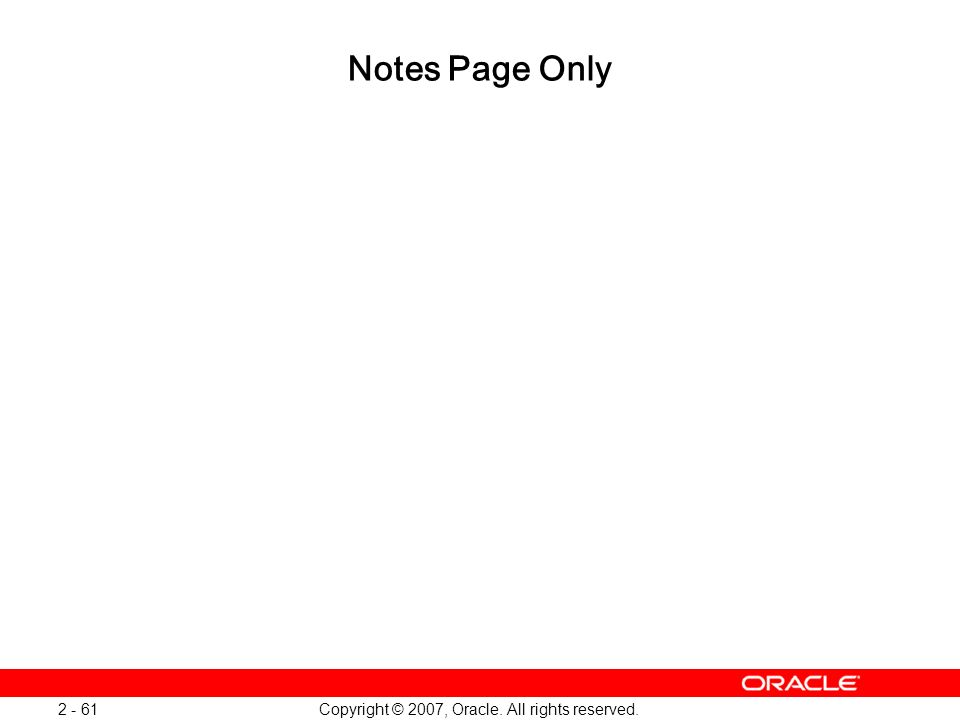 Oracle Database 11g: SQL and PL/SQL New Features 1 - 61