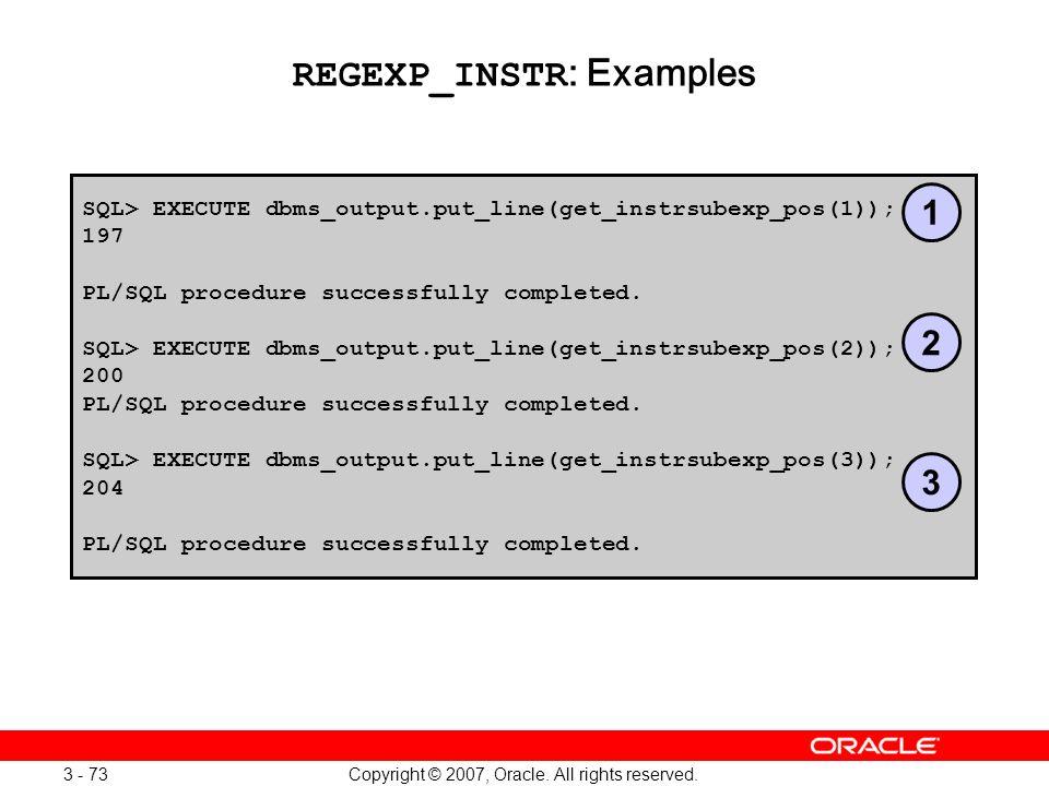 REGEXP_INSTR: Examples
