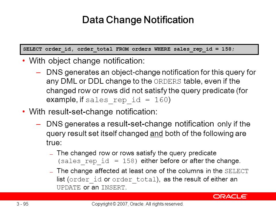 Data Change Notification
