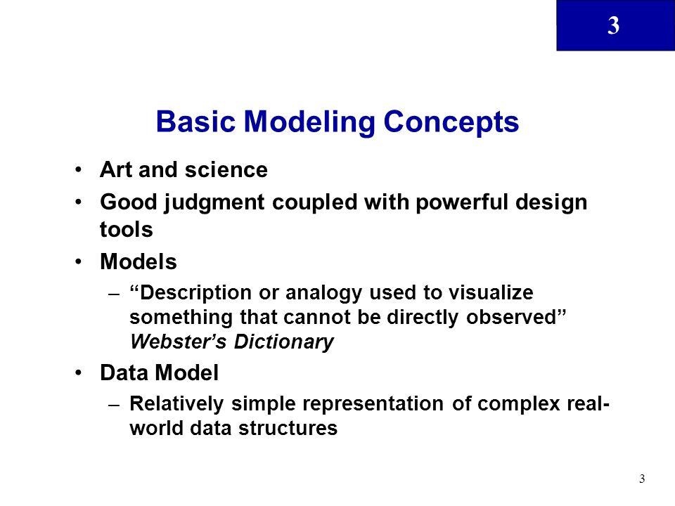 Basic Modeling Concepts