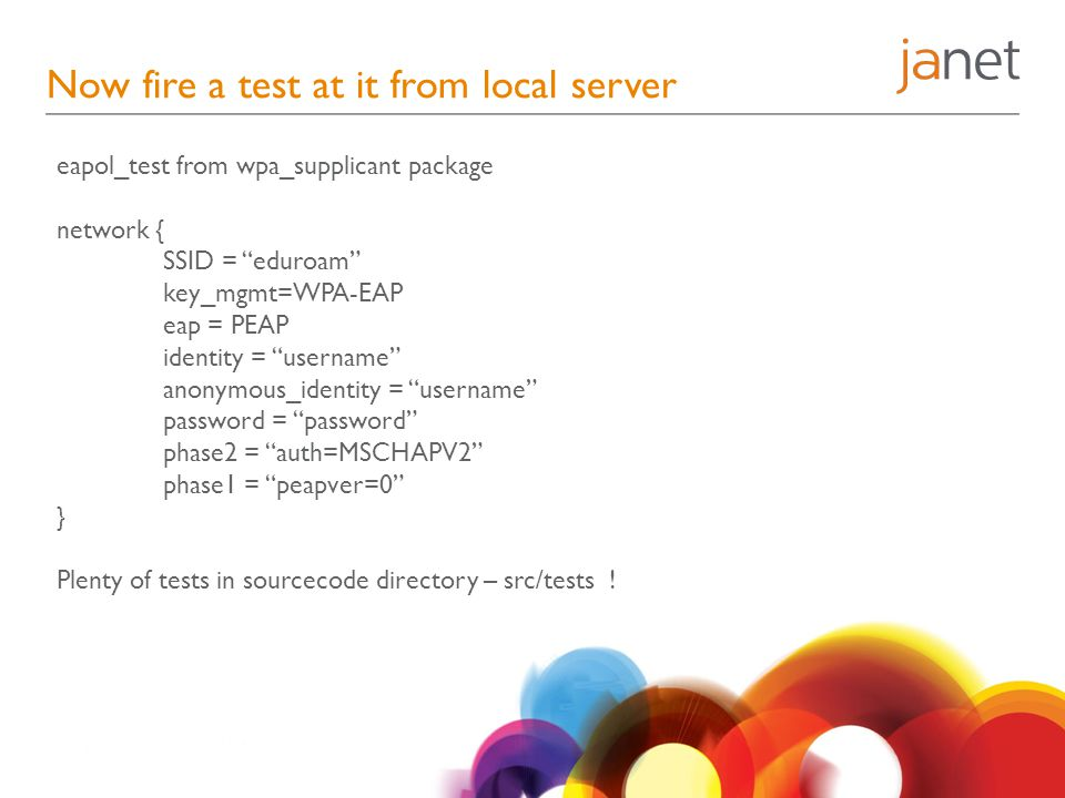 Now fire a test at it from local server