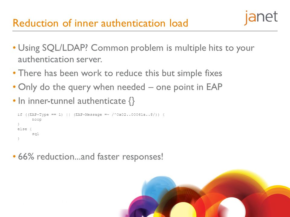 Reduction of inner authentication load
