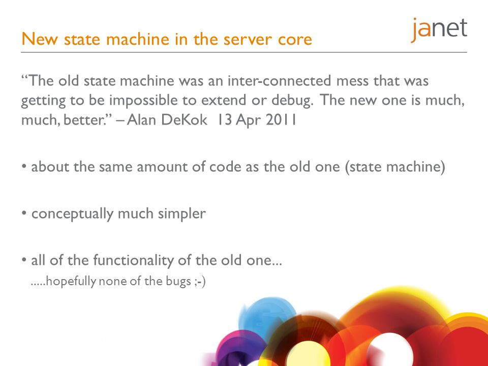 New state machine in the server core
