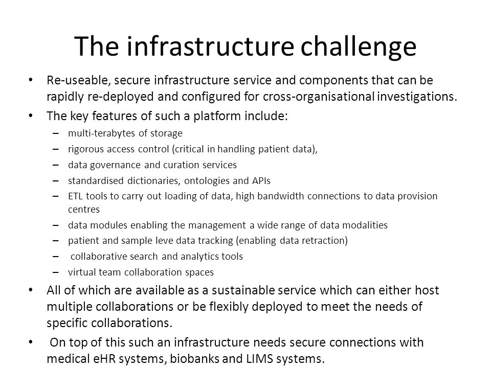 The infrastructure challenge
