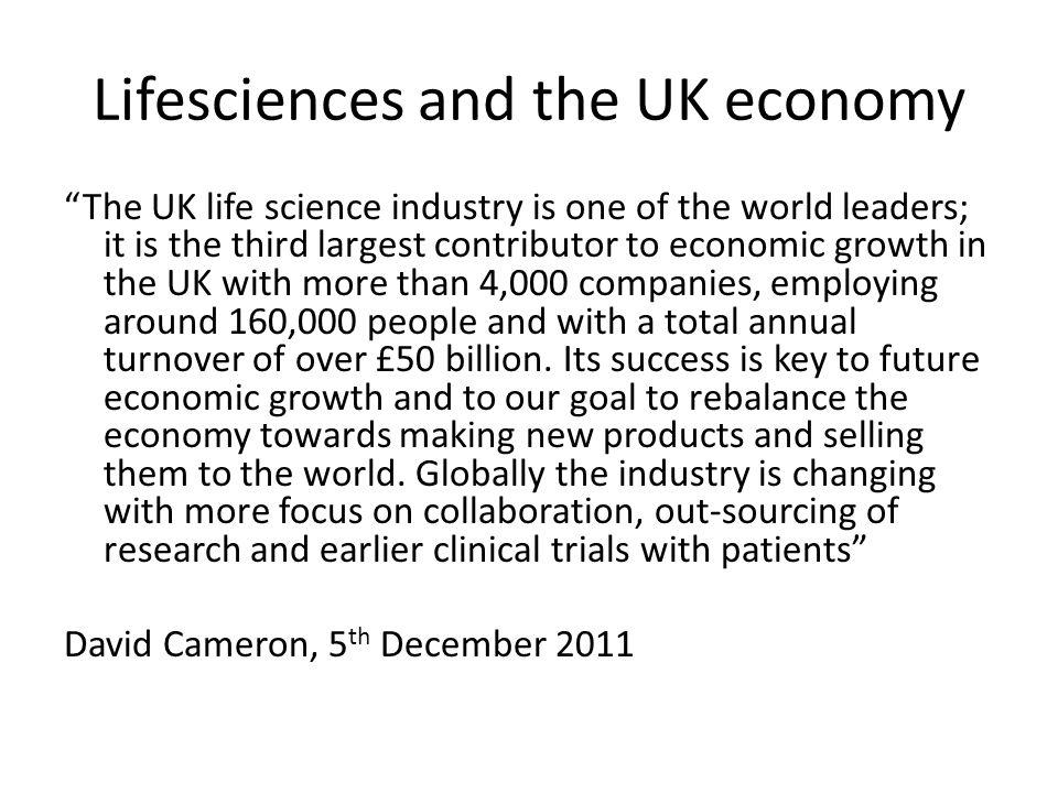 Lifesciences and the UK economy