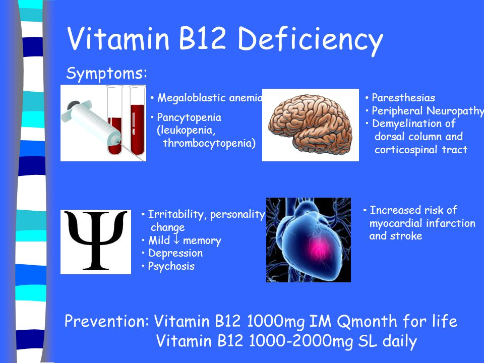 Vitamin B12 Deficiency Symptoms: