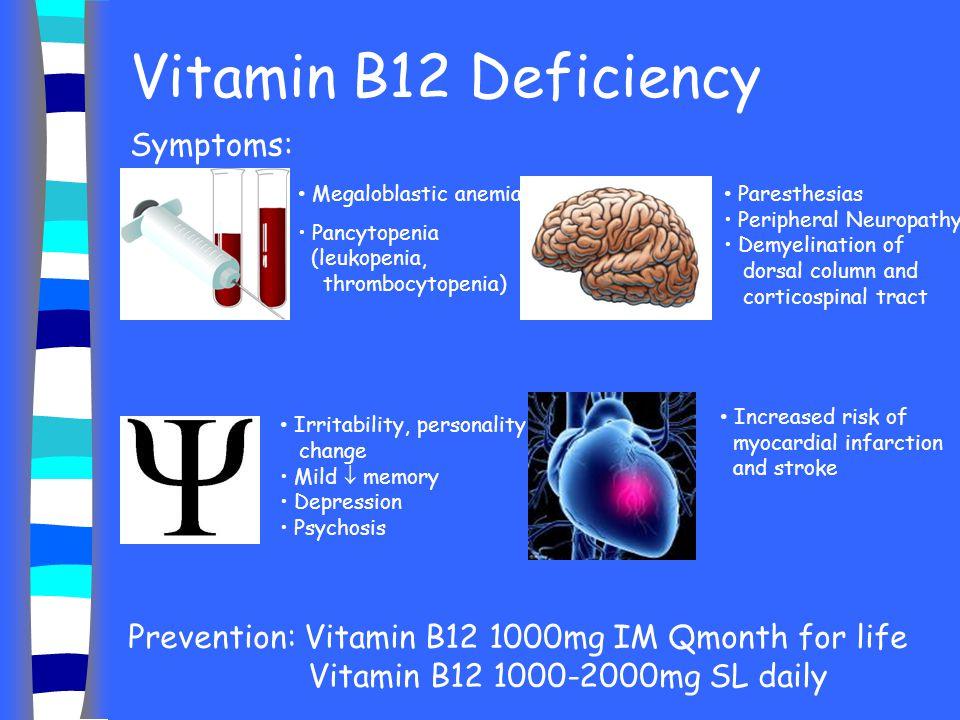 Vitamin B12 Deficiency Symptoms: