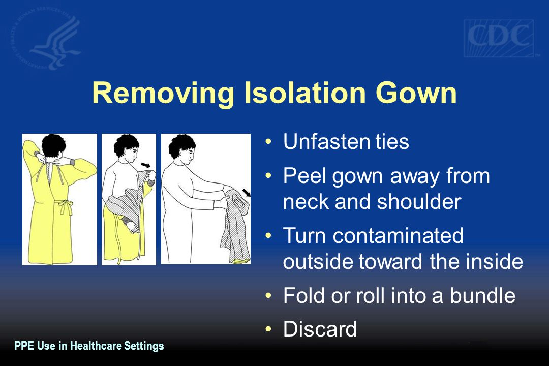 Removing Isolation Gown