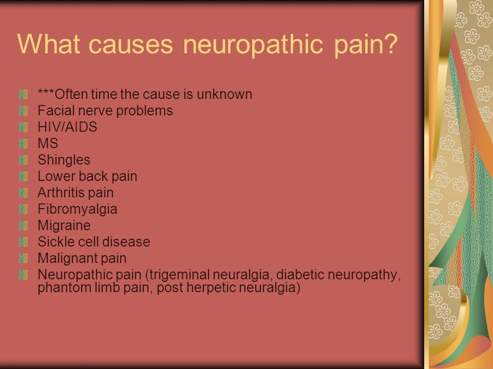 What causes neuropathic pain