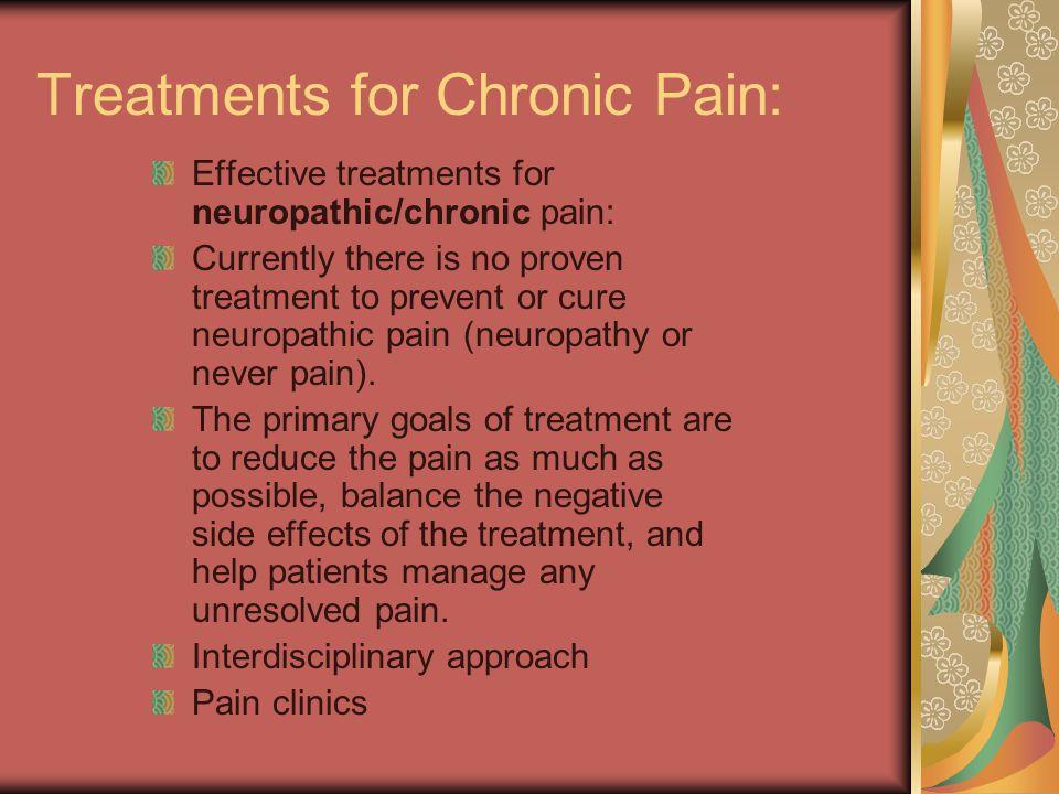 Treatments for Chronic Pain: