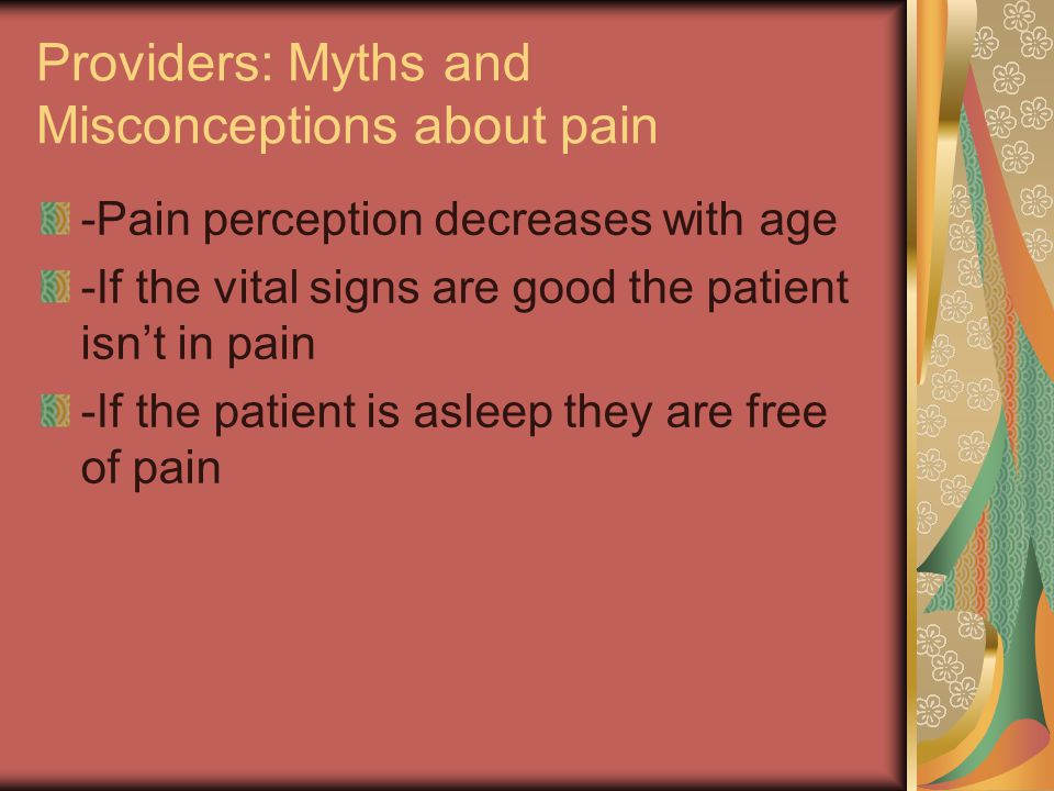 Providers: Myths and Misconceptions about pain