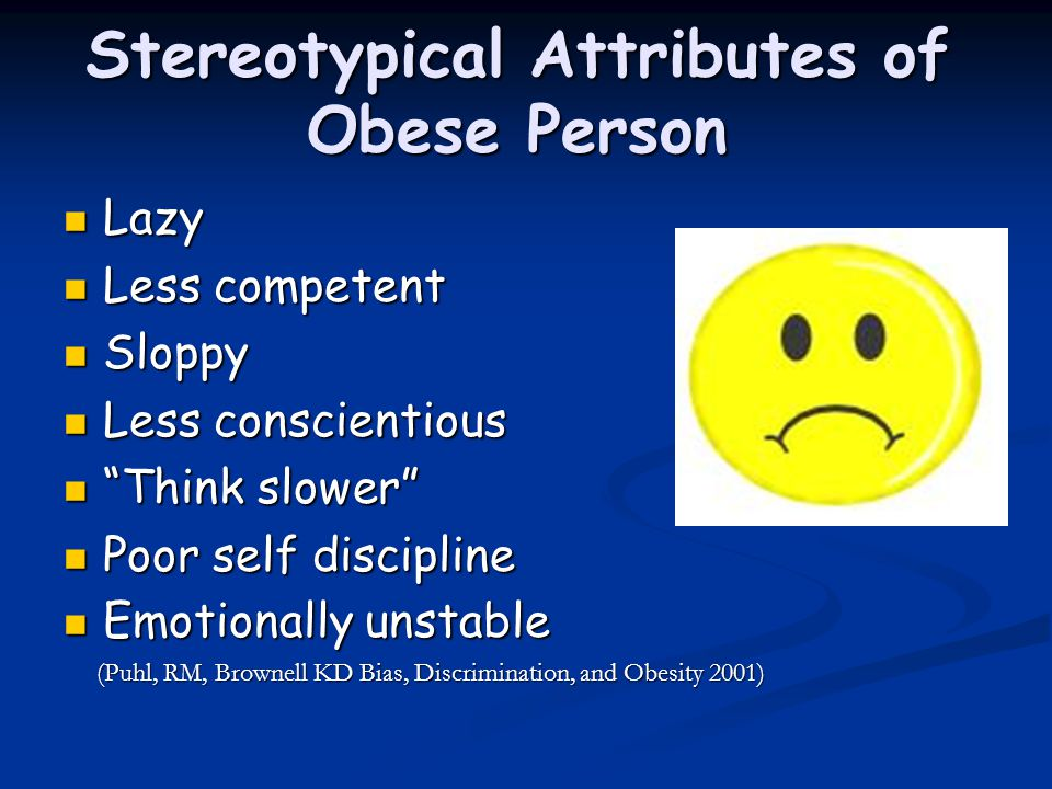 Stereotypical Attributes of Obese Person