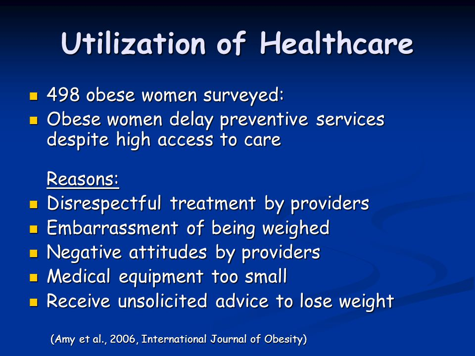 Utilization of Healthcare