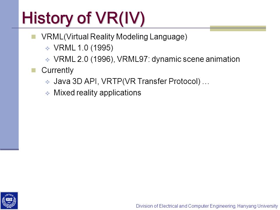 History of VR(IV) VRML(Virtual Reality Modeling Language)
