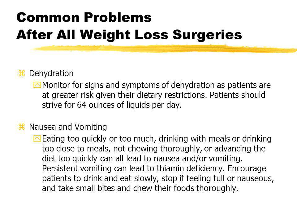 Common Problems After All Weight Loss Surgeries