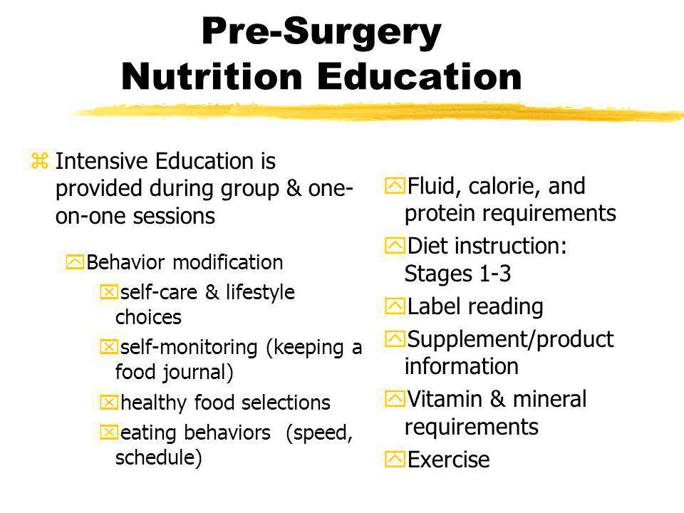 Pre-Surgery Nutrition Education