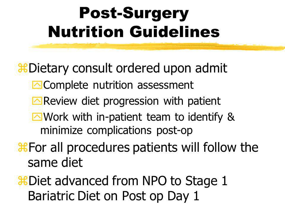 Post-Surgery Nutrition Guidelines