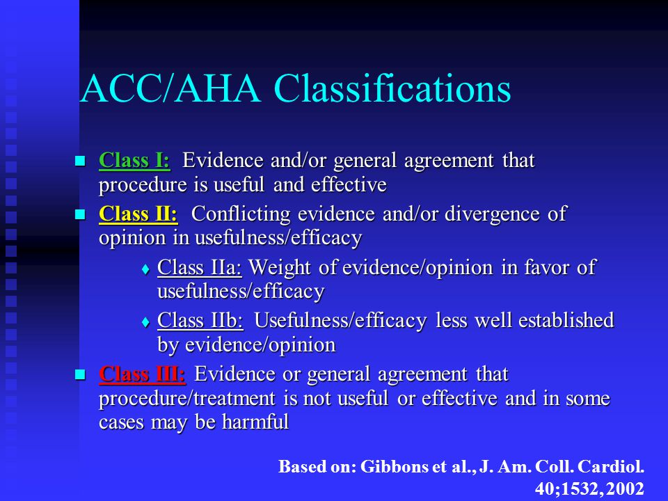 ACC/AHA Classifications