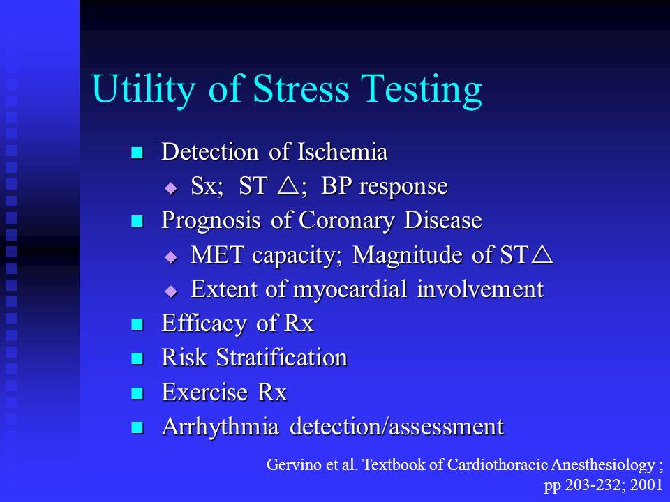 Utility of Stress Testing