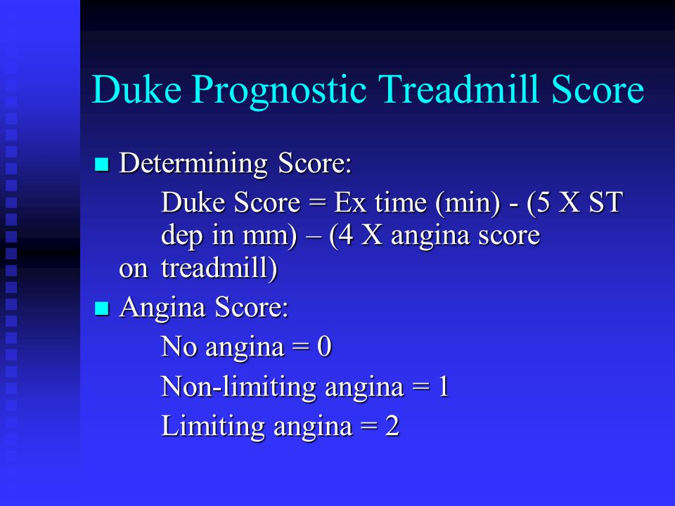 Duke Prognostic Treadmill Score